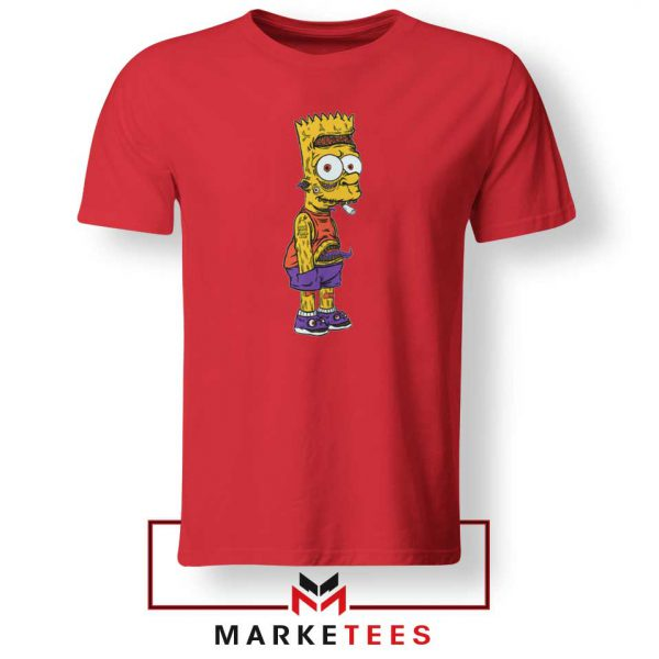 The Scary Bart Red Tshirt