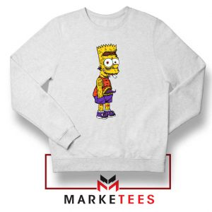 The Scary Bart White Sweater