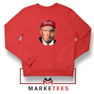 Trump Kanye West Face Red Sweater