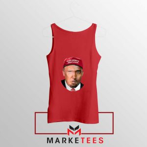 Trump Kanye West Face Red Tank Top