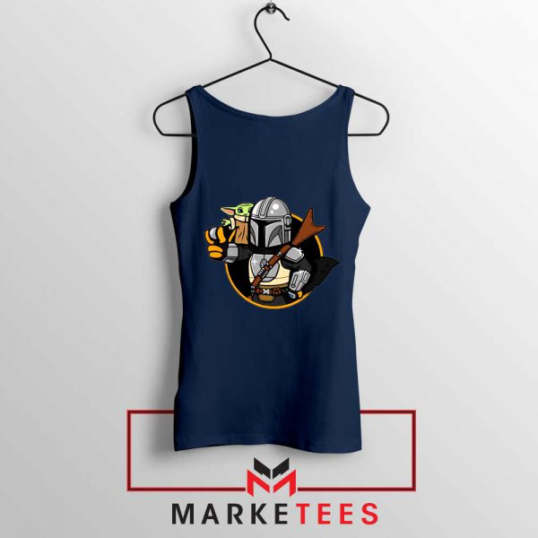 Vault Mando The Child Navy Blue Tank Top