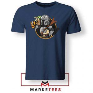 Vault Mando The Child Navy Blue Tee Shirt
