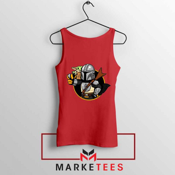 Vault Mando The Child Red Tank Top