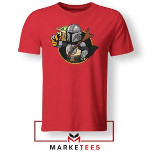 Vault Mando The Child Red Tee Shirt