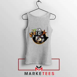 Vault Mando The Child SPort Grey Tank Top