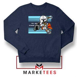 You Got Beskar Steel Starwars Navy Blue Sweater