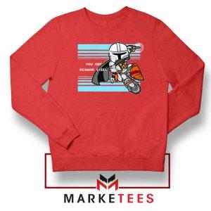 You Got Beskar Steel Starwars Red Sweater