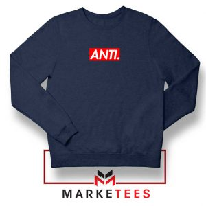 Anti Albumn Supreme Parody Navy Blue Sweater