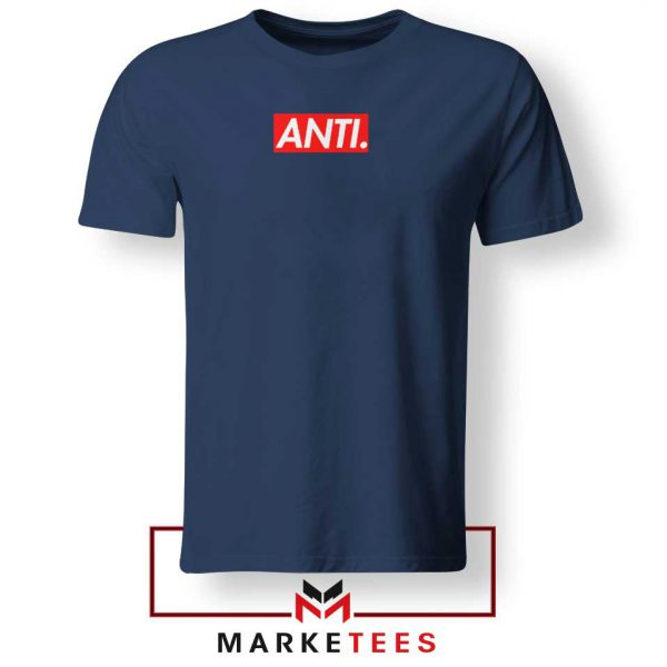 Anti Albumn Supreme Parody Navy Blue Tee Shirt