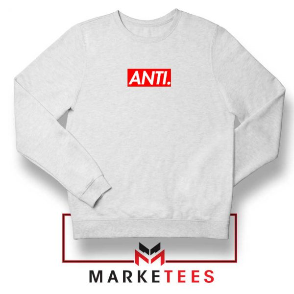 Anti Albumn Supreme Parody White Sweater