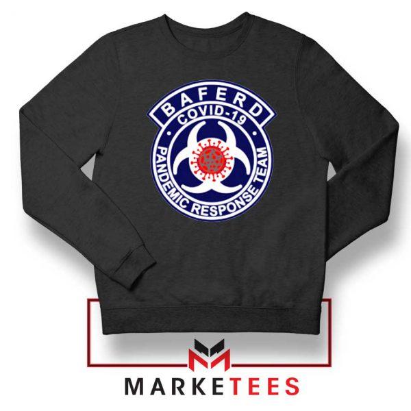 Baferd Covid 19 Logo Black Sweatshirt