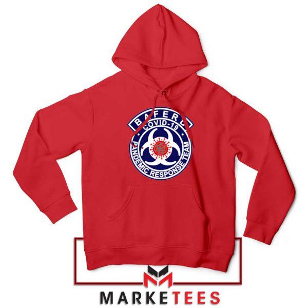 Baferd Covid 19 Logo Red Hoodie
