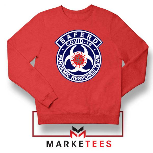 Baferd Covid 19 Logo Red Sweatshirt