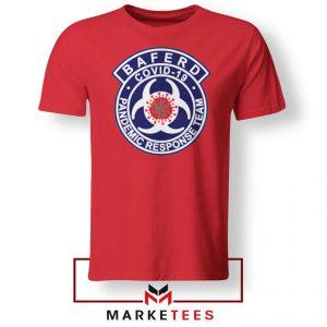 Baferd Covid 19 Logo Red Tshirt