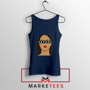 Best Savage Rihanna Navy Blue Tank Top