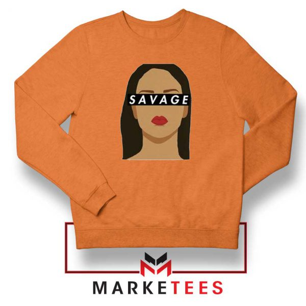 Best Savage Rihanna Orange Sweatshirt