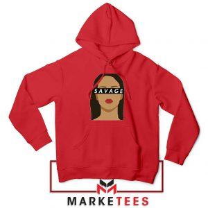 Best Savage Rihanna Red Hoodie