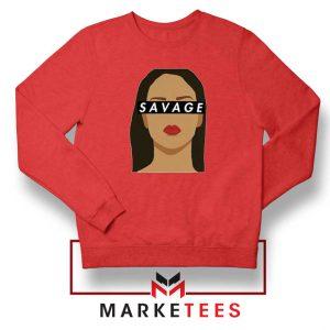 Best Savage Rihanna Red Sweatshirt