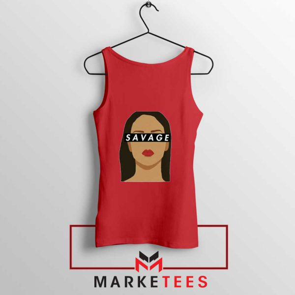 Best Savage Rihanna Red Tank Top
