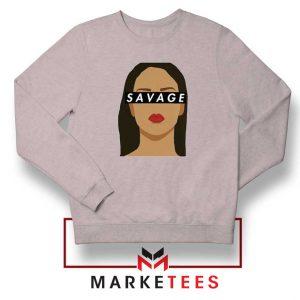 Best Savage Rihanna Sport Grey Sweatshirt