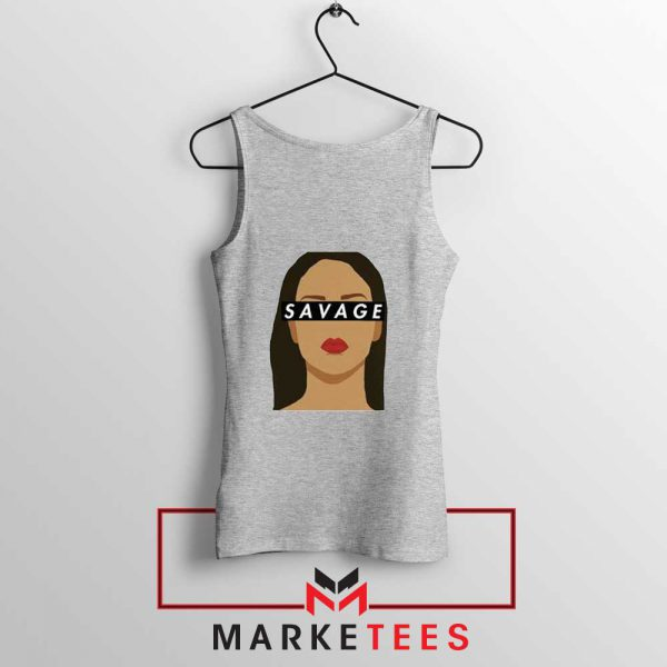 Best Savage Rihanna Sport Grey Tank Top
