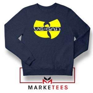 Best Vegan Wu Tang Clan Navy Blue Sweatshirt