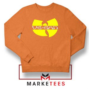 Best Vegan Wu Tang Clan Orange Sweatshirt