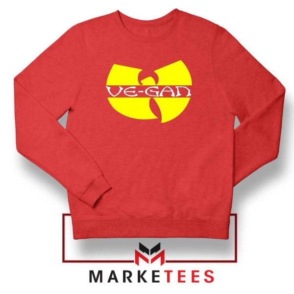 Best Vegan Wu Tang Clan Red Sweatshirt