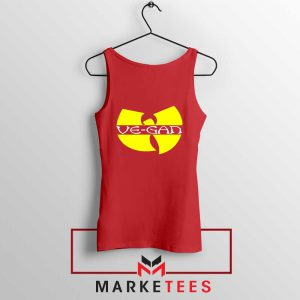 Best Vegan Wu Tang Clan Red Tank Top