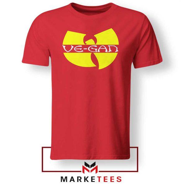 Best Vegan Wu Tang Clan Red Tshirt