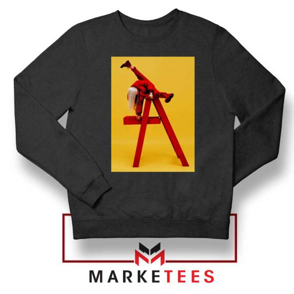 Billie Eilish Graphic Music Black Sweater