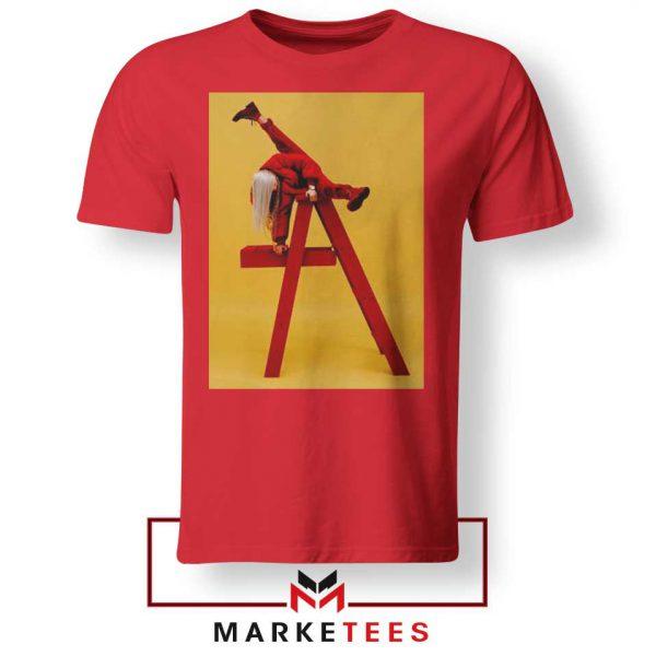 Billie Eilish Graphic Music Red Tee Shirt