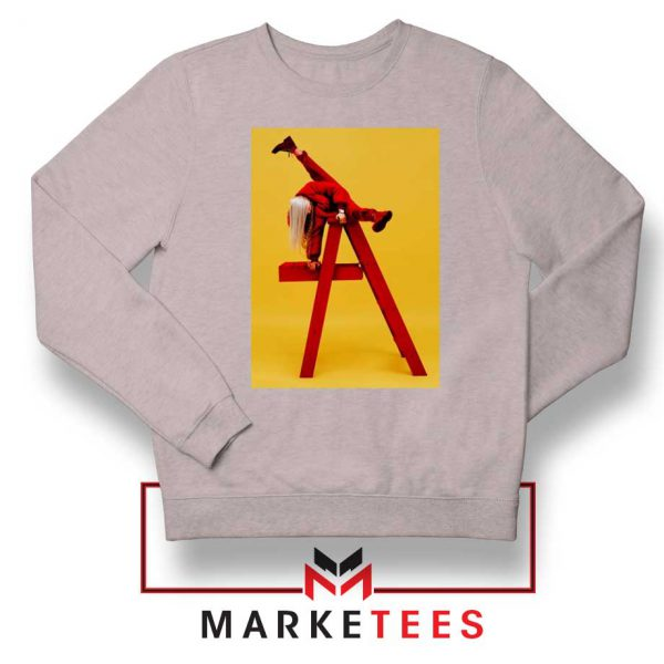 Billie Eilish Graphic Music Sport Grey Sweater
