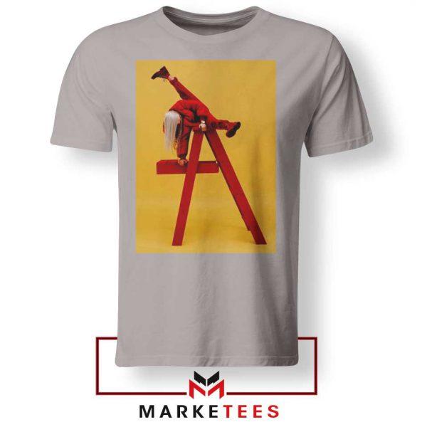 Billie Eilish Graphic Music Sport Grey Tee Shirt