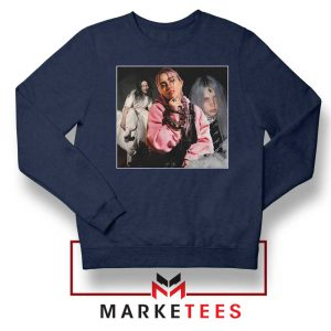 Billie Eilish Music Concert Navy Blue Sweater