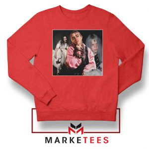 Billie Eilish Music Concert Red Sweater
