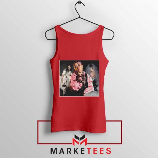 Billie Eilish Music Concert Red Tank Top