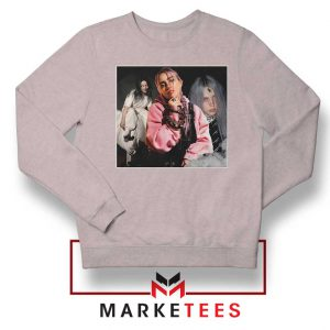 Billie Eilish Music Concert Sport Grey Sweater