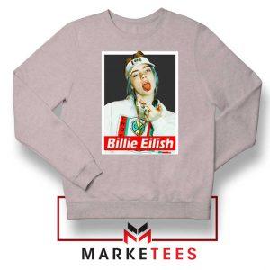 Billie Eilish Pop Singer Sport Grey Sweatshirt