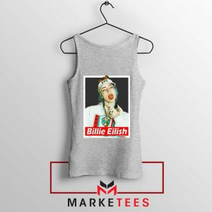 Billie Eilish Pop Singer Sport Grey Tank Top