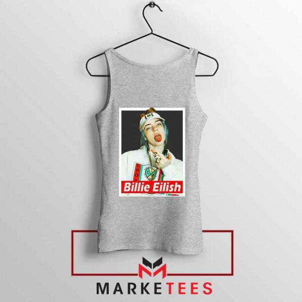 Billie Eilish Pop Singer Sport Grey Tank Top