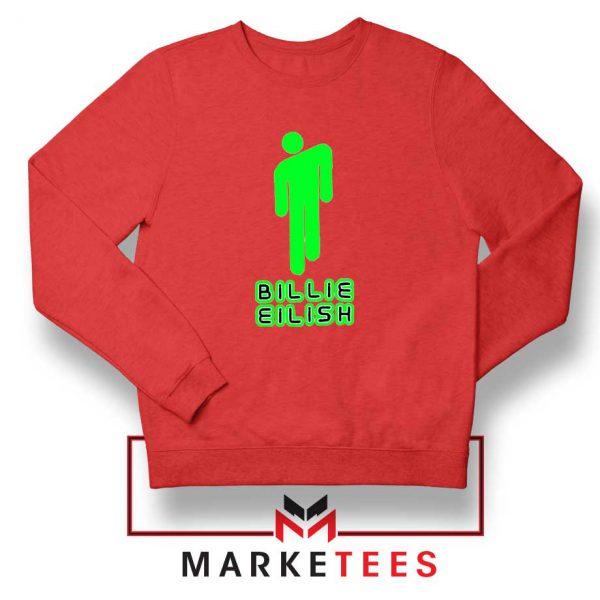 Billie Eilish Singer Pop Red Sweatshirt