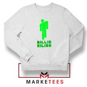 Billie Eilish Singer Pop White Sweatshirt