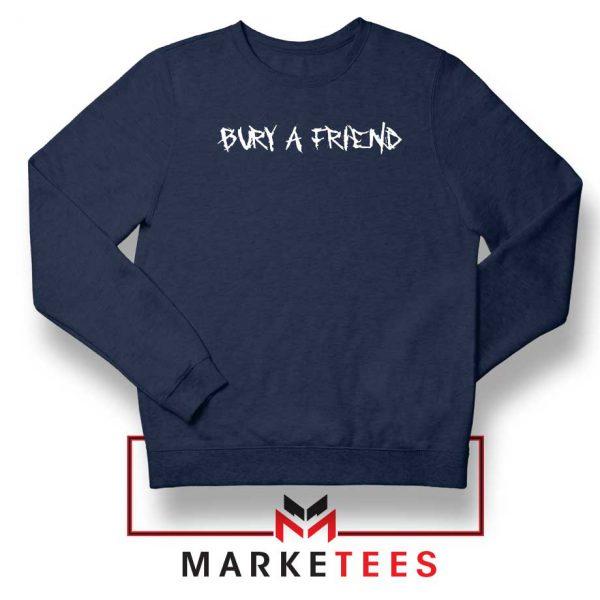 Bury a Friend Billie Eilish Navy Blue Sweater