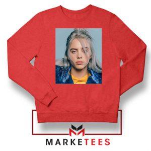 Buy Billie Eilish Music Star Red Sweatshirt