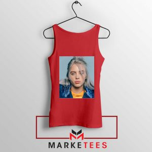 Buy Billie Eilish Music Star Red Tank Top