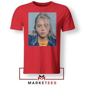 Buy Billie Eilish Music Star Red Tee Shirt