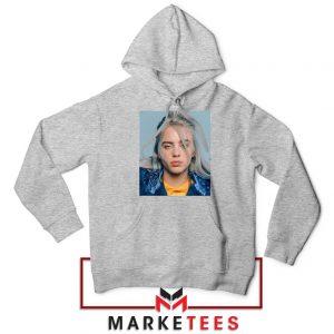 Buy Billie Eilish Music Star Sport Grey Hoodie