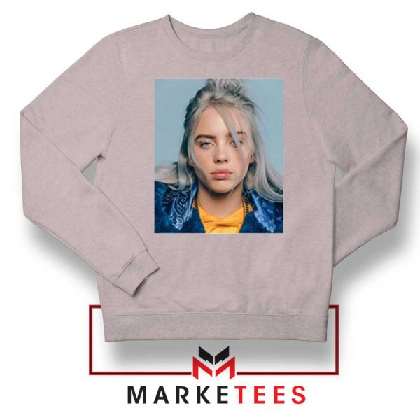 Buy Billie Eilish Music Star Sport Grey Sweatshirt