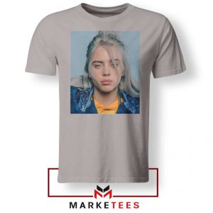 Buy Billie Eilish Music Star Sport Grey Tee Shirt